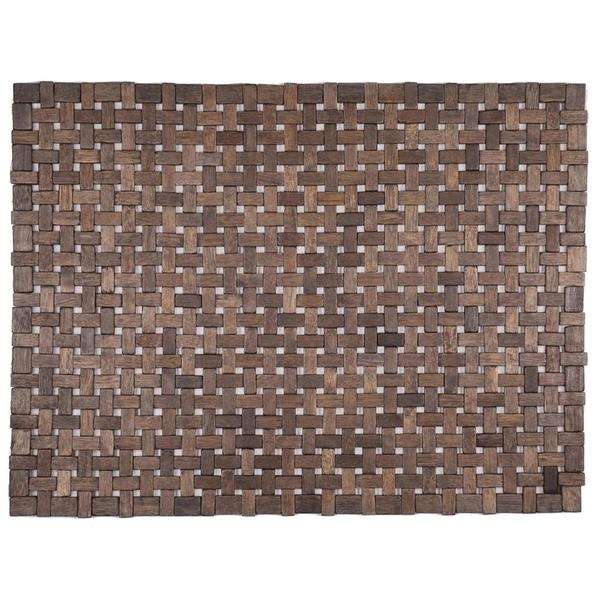 Hand-crafted Douglas Dark Brown Exotic Wood Mat (18x30-inch)