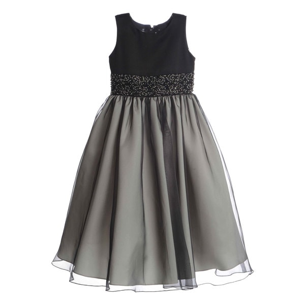 US Angels Girls Special Occasion Embellished Dress