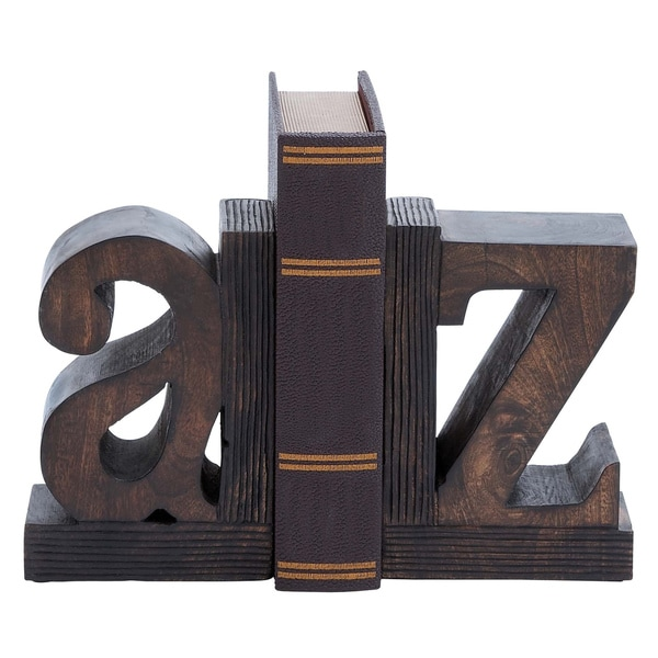 Shop A To Z Artisan Hand Carved Wood Bookends Free