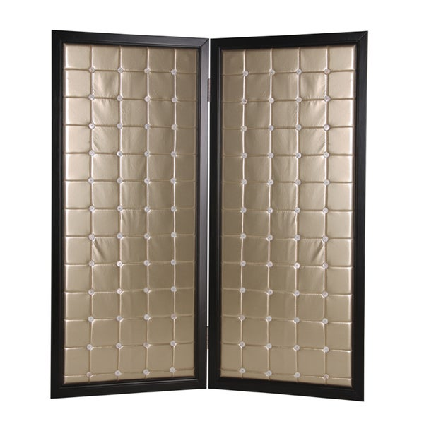 Handmade Beau Monda 2-Panel Wood Screen (China)
