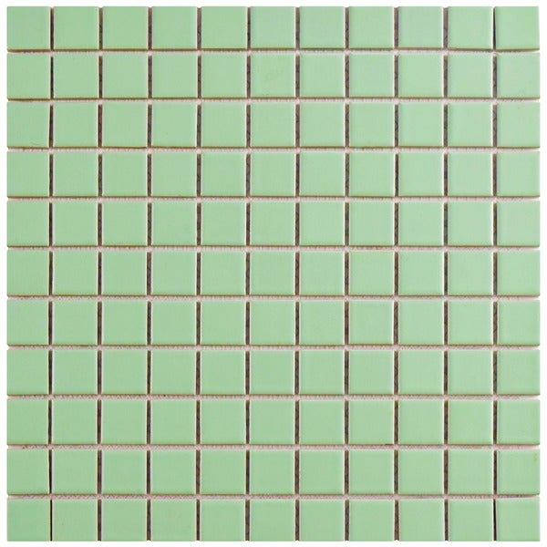 Somertile 11 75x11 75 Inch Victorian Matte Green Porcelain