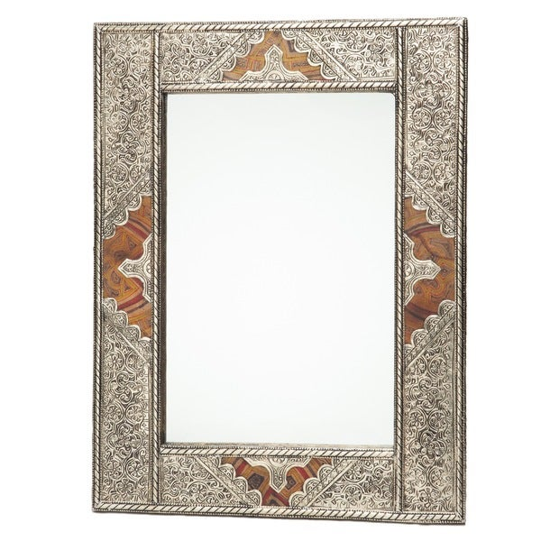 Metal and Leather Moroccan Mirror (Morocco)