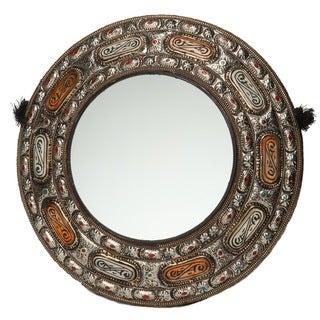 Handmade Round Rope Moroccan Mirror (Morocco)