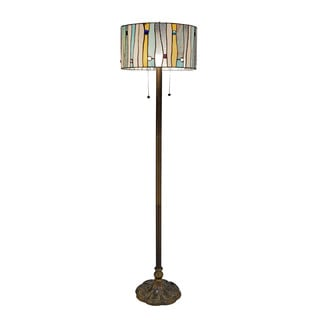 Tiffany Style Blue Contemporary Floor Lamp