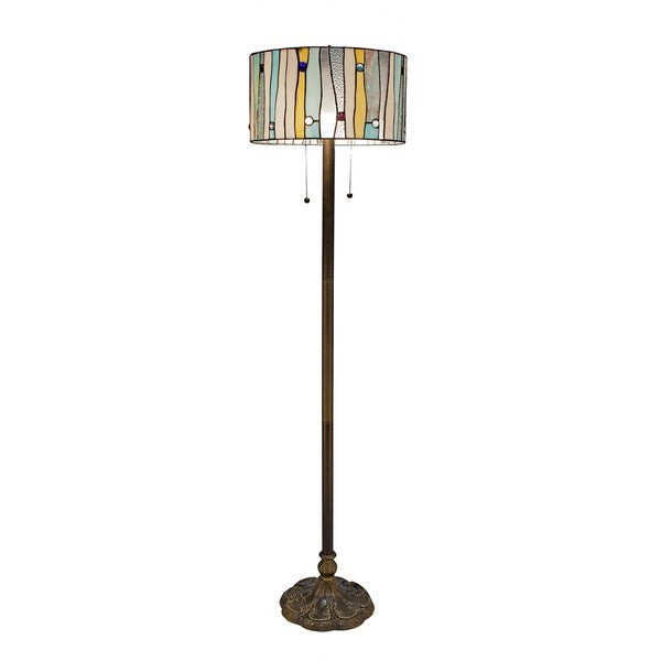 The Curated Nomad Hyde Tiffany-style Floor Lamp