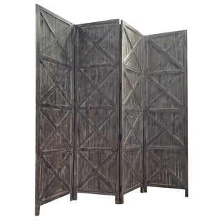 Palina 4-Panel Wooden Screen (China)