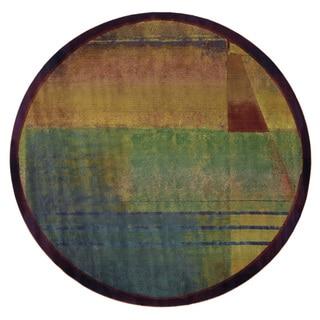 Kharma II Red/ Green Rug (8' Round)