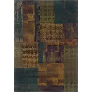 Kharma II Blue/ Green Rug (5'3 X 7'6)