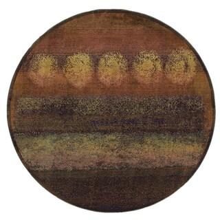 Kharma II Gold/ Green Rug (8' Round)
