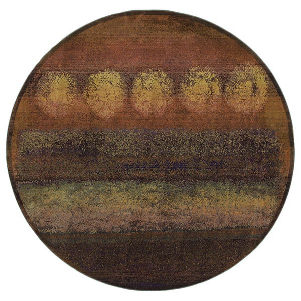 Karsyn Phases Gold/Green Area Rug - 6' Round