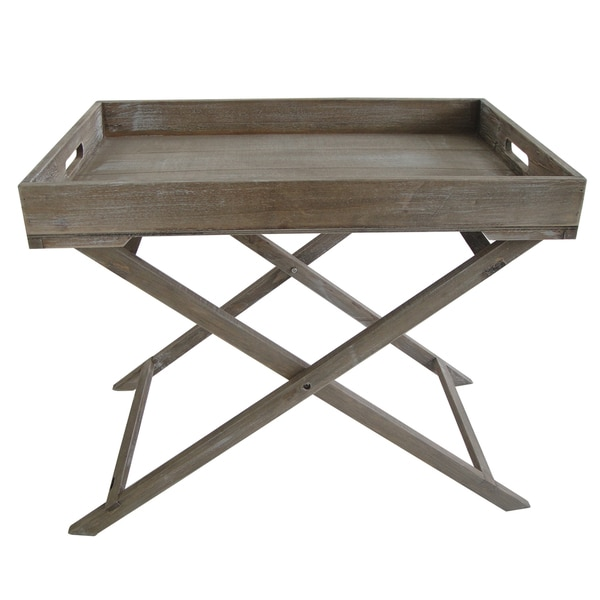 handmade distressed wood tray table china free shipping today 15524000. Black Bedroom Furniture Sets. Home Design Ideas