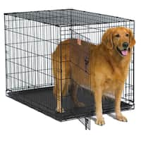 Midwest iCrate Metal Wire Dog Crate with Pan and Divider