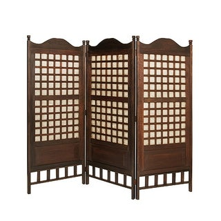 Handmade Capice 3-Panel Antique Wood Screen (Philippines)