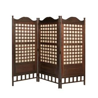 Handmade Capice 3-Panel Antique Wood Screen (Philippines)