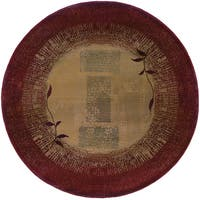 Copper Grove Aspromonte Red/ Beige Area Rug - 6' Round