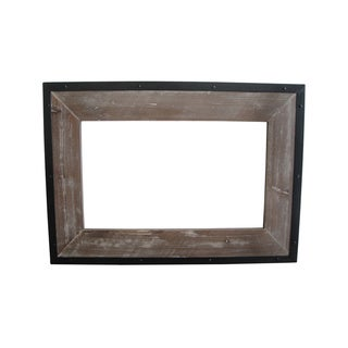 Handmade Set of 4 Distressed Wood Mirror (China)