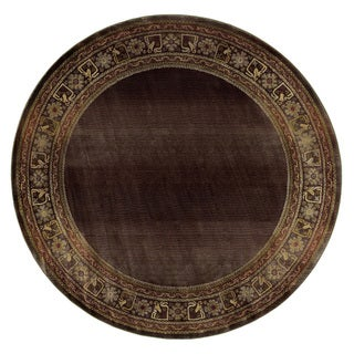 Generations Brown/ Green Rug (8' Round)