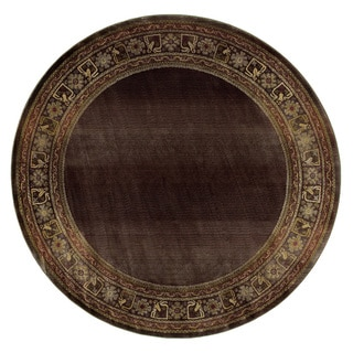 Generations Brown/ Green Rug (6' Round)
