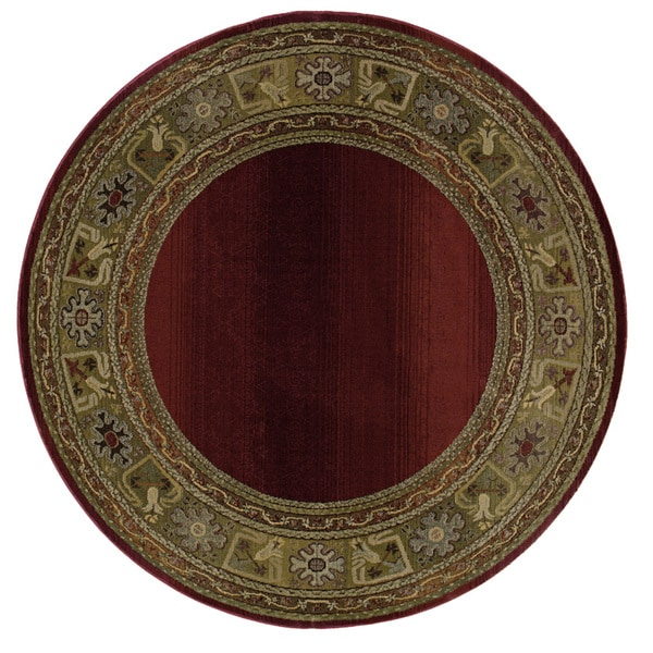 Generations Red/ Green Rug (8' Round) - 8' Round