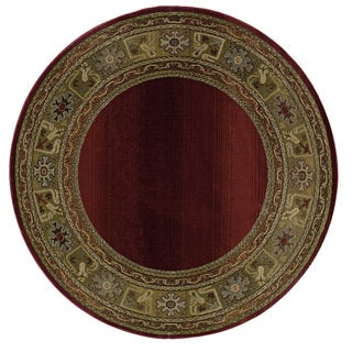 Generations Red/ Green Rug (6' Round)