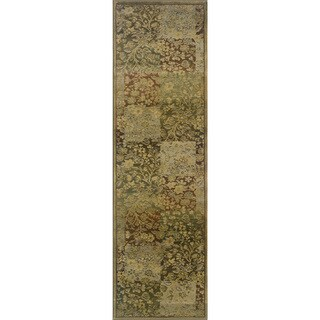 Generations Green/ Gold Rug - 2'3 X 7'6