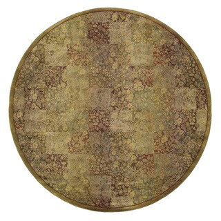 Generations Green/ Gold Rug (6' Round)