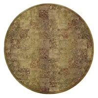 Generations Green/ Gold Rug (6' Round) - 6' Round
