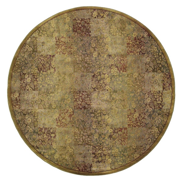 Generations Green/ Gold Rug (6' Round) - 6' Round