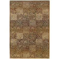 Generations Green/ Gold Rug - 6'7 X 9'1