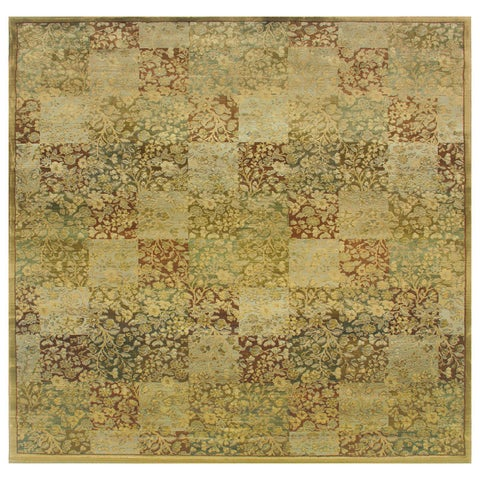 Generations Green/ Gold Rug - 8' Square