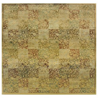 Generations Green/ Gold Rug (8' Square)