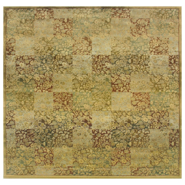 Generations Green/ Gold Rug (8' Square) - 8' Square