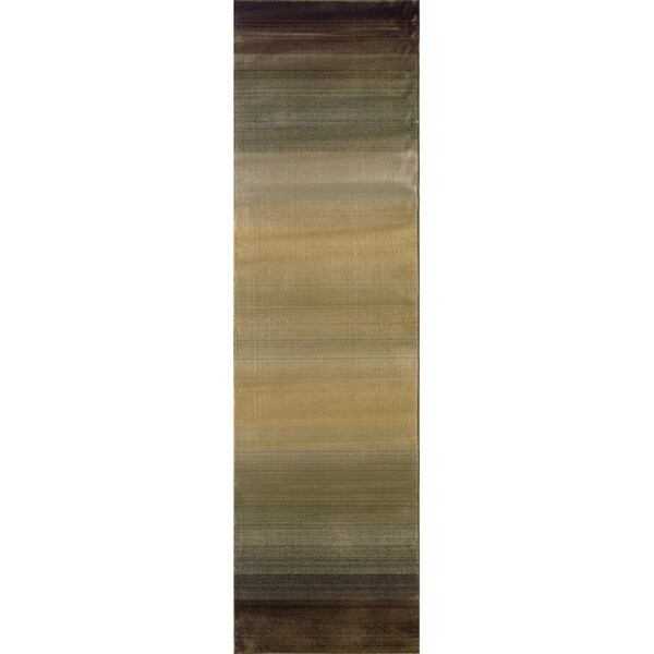 "Generations Brown/ Beige Rug (2'3 X 7'6) - 2'3"" x 7'6"" Runner"