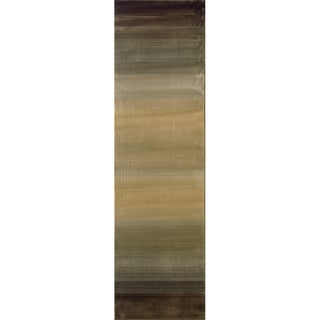 Generations Brown/ Beige Rug (2'7 X 9'1)