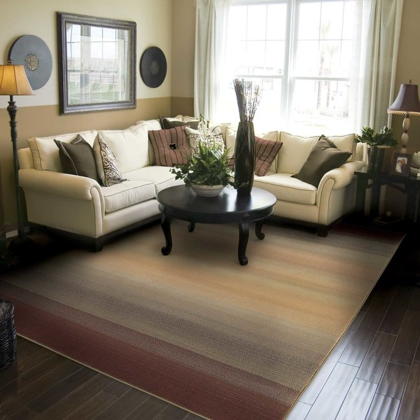 Generations Brown/ Beige Rug - 5'3 x 7'6
