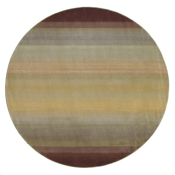 Generations Brown/ Beige Rug (8' Round) - 8' Round