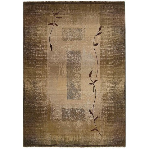 Generations Green/ Beige Rug - 2'3 x 4'5