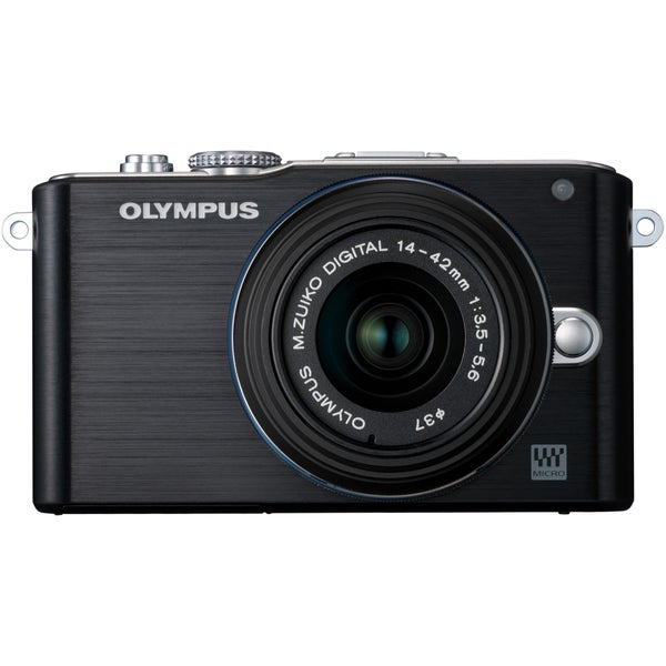 Olympus E-PL3 12.3MP Black Digital Camera with 14-42mm Lens