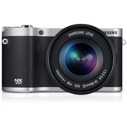 Samsung NX300 20.3MP Black Mirrorless Digital Camera with 18-55mm f3.5-5.6 OIS Lens