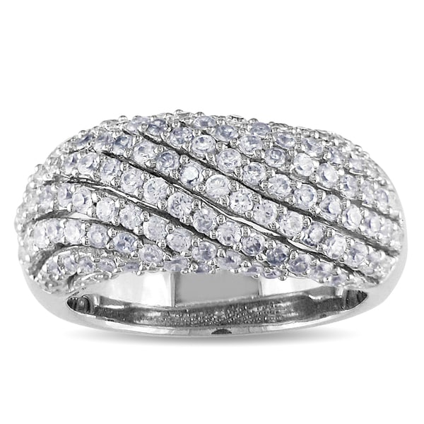 Catherine Catherine Malandrino Sterling Silver Cubic Zirconia Band-style Ring