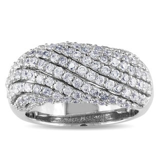 Miadora Sterling Silver Cubic Zirconia Band-style Ring