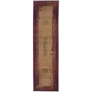 Copper Grove Aspromonte Red/ Beige Area Rug - 2'7 x 9'1