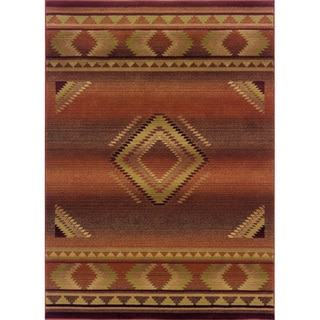Generations Red/ Beige Rug (4' X 5'9)