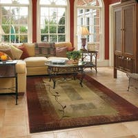 Copper Grove Aspromonte Red/ Beige Area Rug - 4' x 5'9""