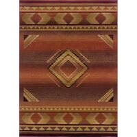 "Generations Red/ Beige Rug (5'3 X 7'6) - 5'3"" x 7'6"""