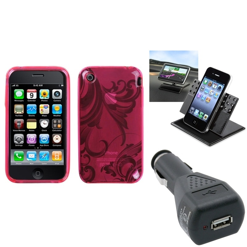 Insten Car Charger/ Dashboard Holder/ Phone Case Cover fo...