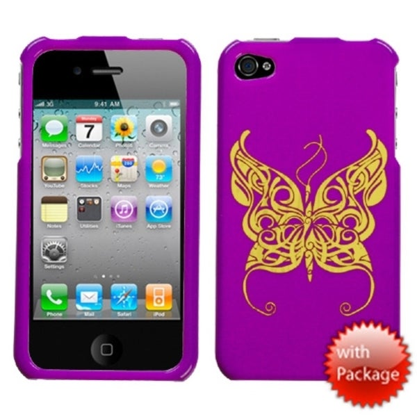 INSTEN Flying Butterfly/ Reflex Phone Case Cover for Apple iPhone 4S/ 4