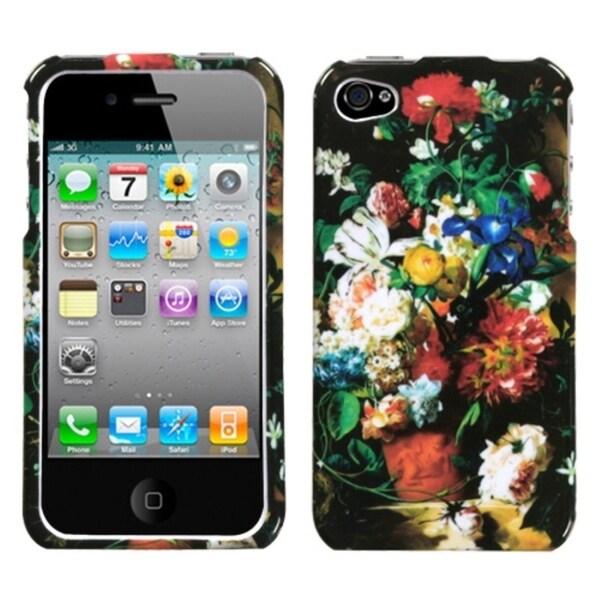 INSTEN Flowers in Terracotta Vase Phone Case Cover for Apple iPhone 4S/ 4