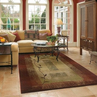 Generations Transitional Red/ Beige Rug (5'3 x 7'6)