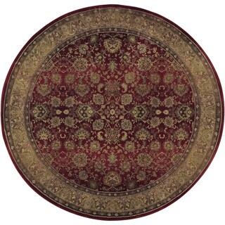 Generations Red/ Beige Transitional Rug (6' Round)